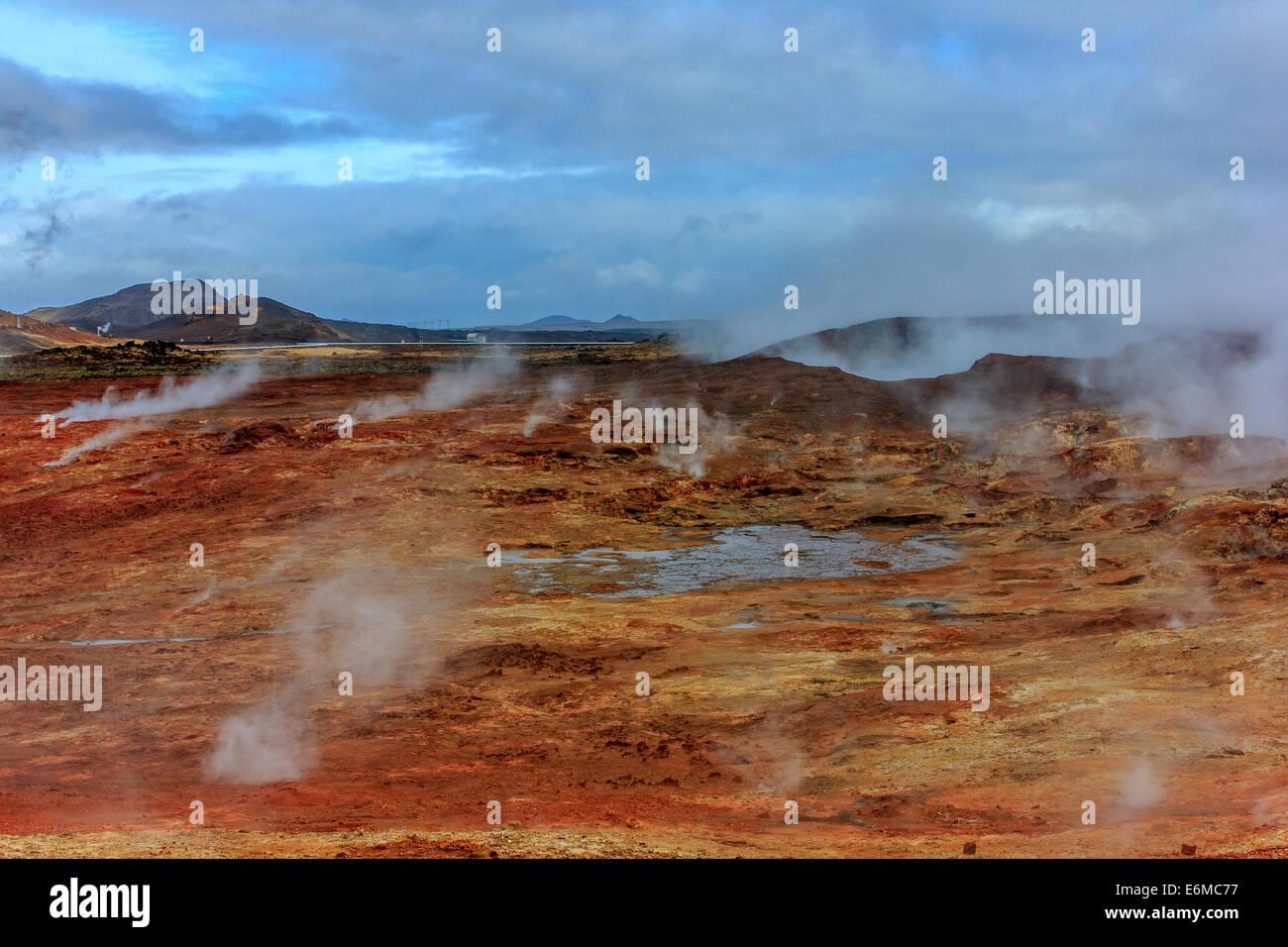 Área geotérmica Gunnuhver Imagen De Stock