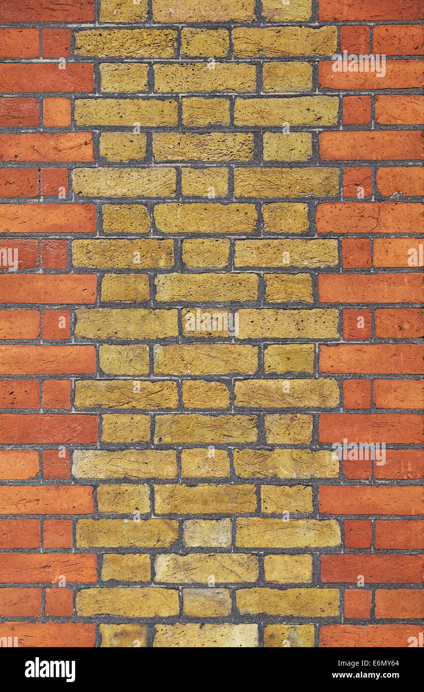 Texturas de Londres, típica pared de ladrillo. Imagen De Stock