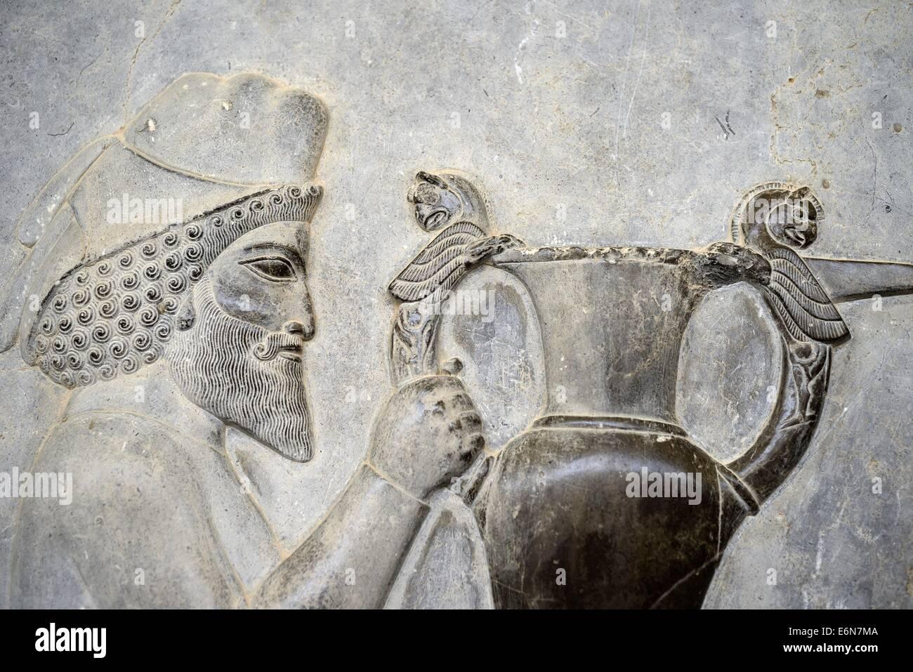 Irán, Persépolis , Takht-e Jamshid ,la capital ceremonial del imperio aqueménida (ca. 550-330 AEC), Foto de stock