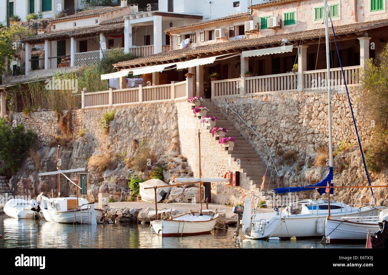 Puerto de Cala Figuera, aldea de pescadores, Mallorca, España Foto de stock