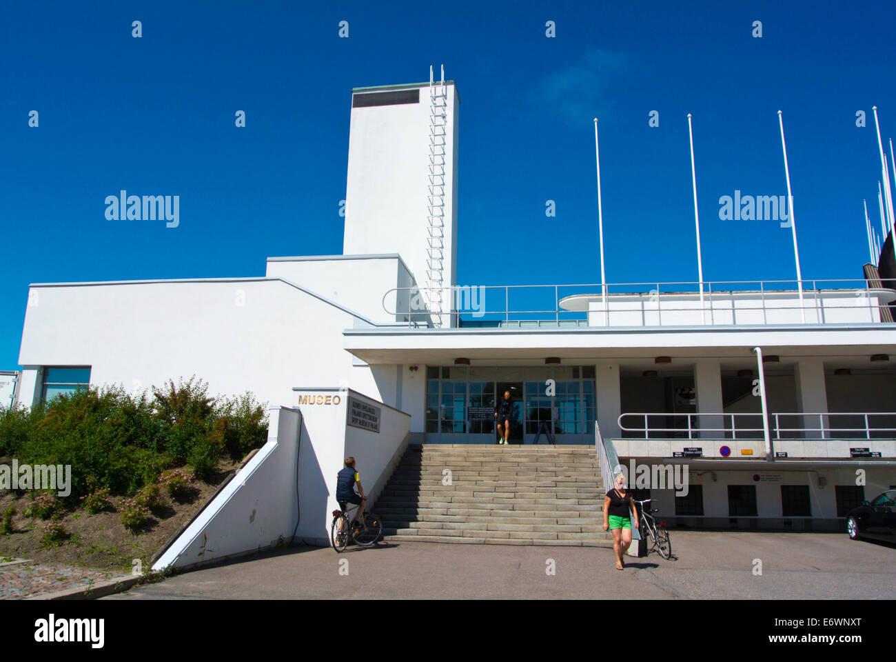 Urheilumuseo, deportes museum, el Olympiastadion, el Estadio Olímpico, el distrito central de Taka-Töölö, Imagen De Stock