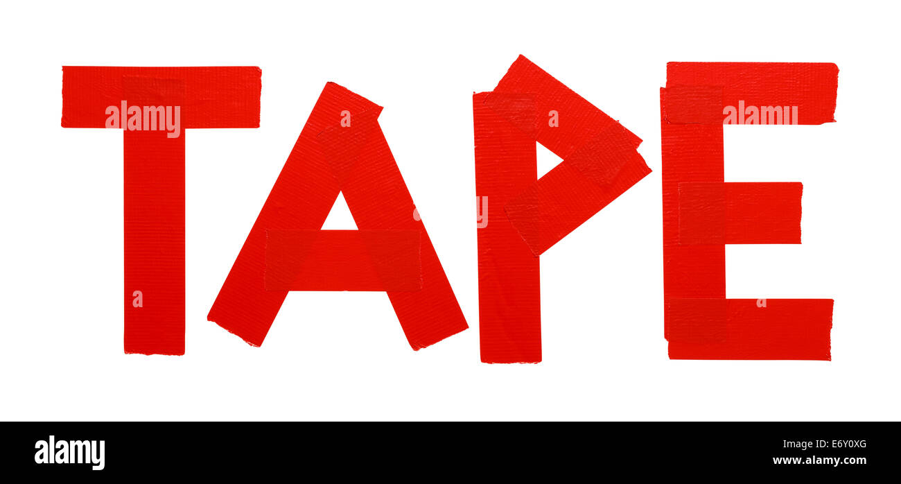Duct Tape Rojo aislado sobre fondo blanco. Imagen De Stock