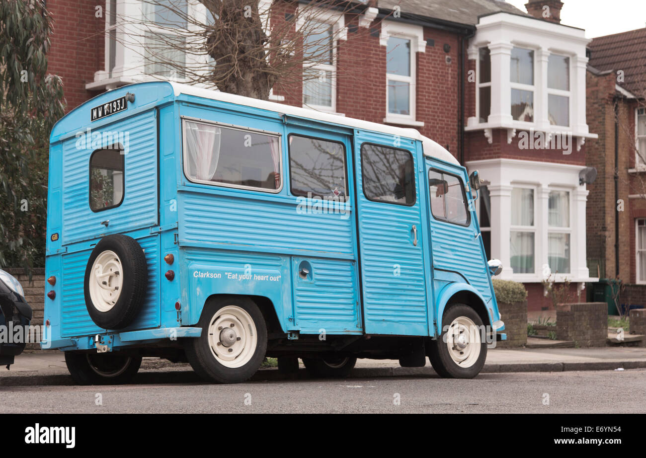 Blue Citroën H Van Foto de stock