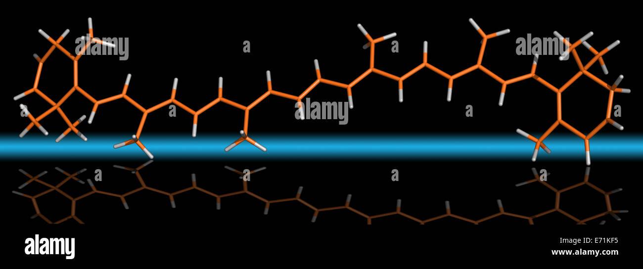El Beta Caroteno Molécula Foto de stock