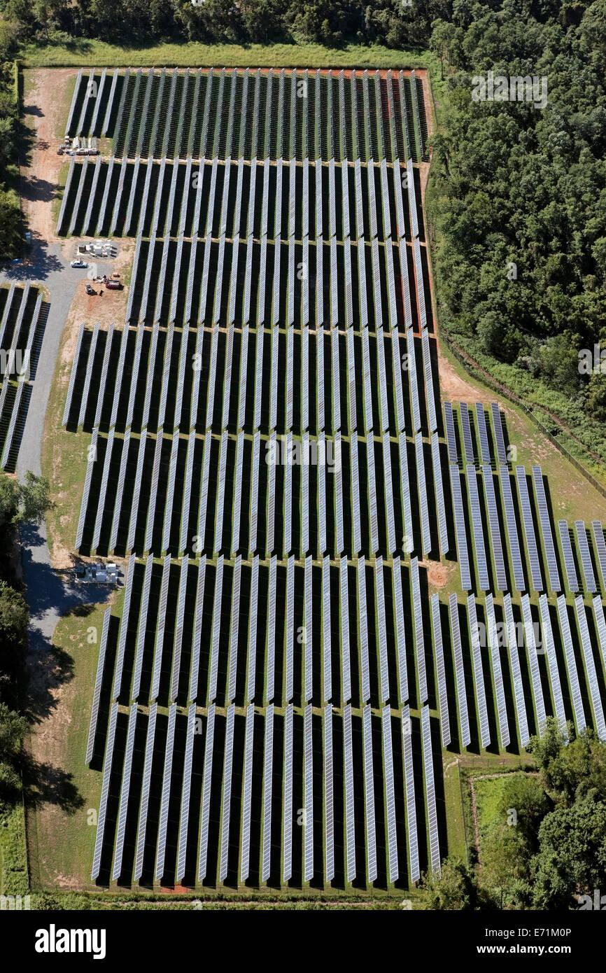 Granja solar - New Jersey (cerca de Princeton) Imagen De Stock