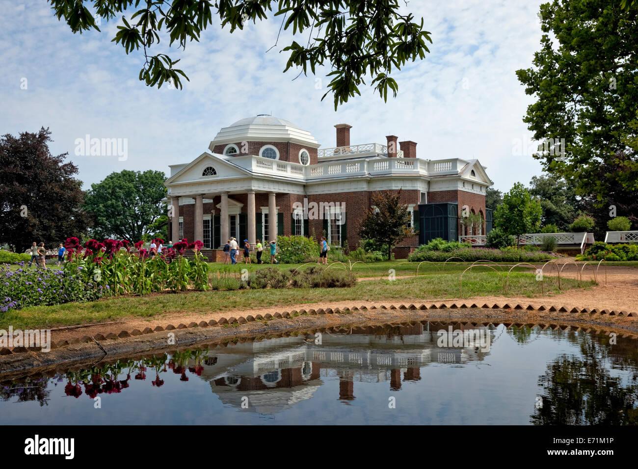 El hogar de Thomas Jefferson - Monticello, VA Imagen De Stock