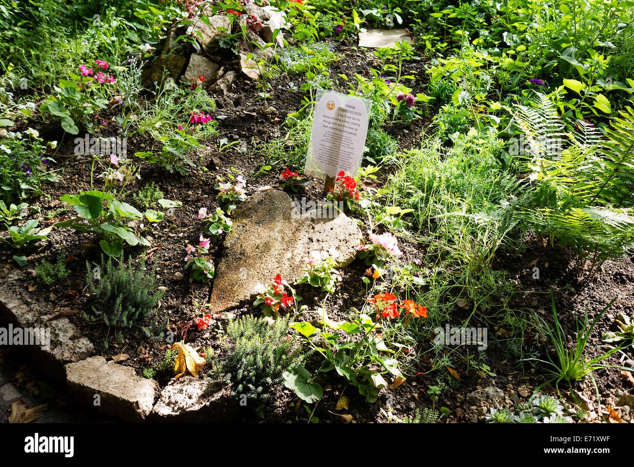 Jardín comunitario en Chippenham UKz Imagen De Stock