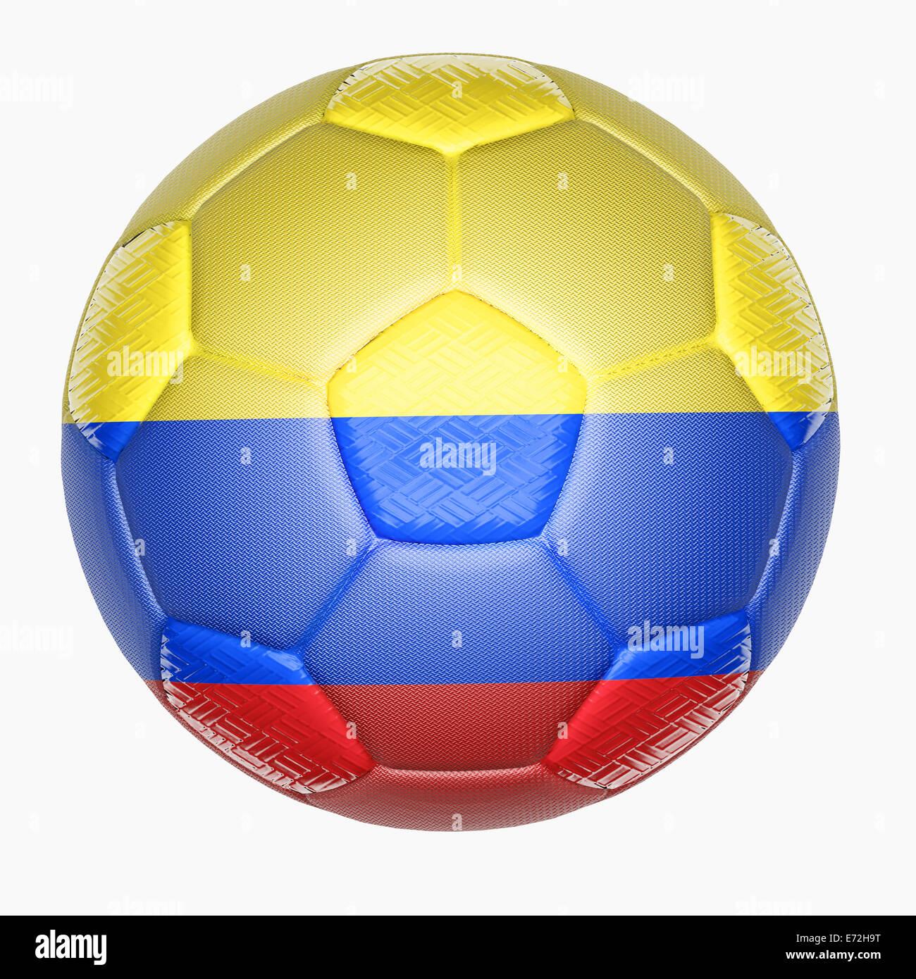 La asignación de la pelota de fútbol con la bandera de Colombia Imagen De  Stock f68ff5fb8d3b9
