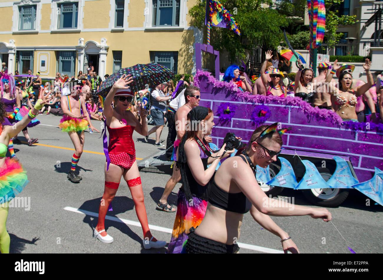 Pride Parade, Vancouver 2014 Imagen De Stock
