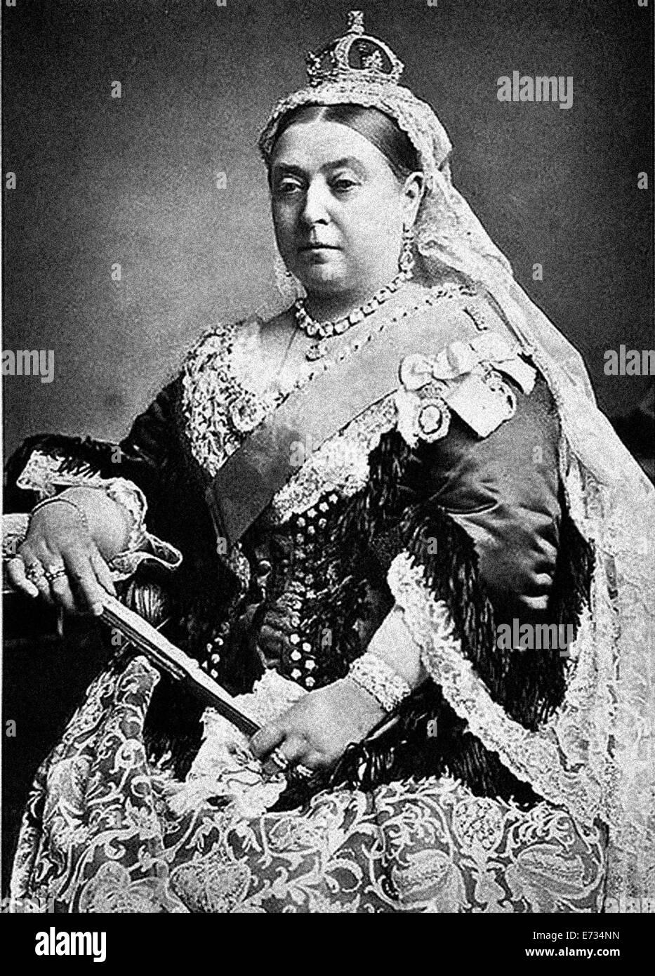 La reina Victoria durante su Jubileo de Diamante. A partir de los archivos de prensa Servicio de retrato (vertical) Imagen De Stock