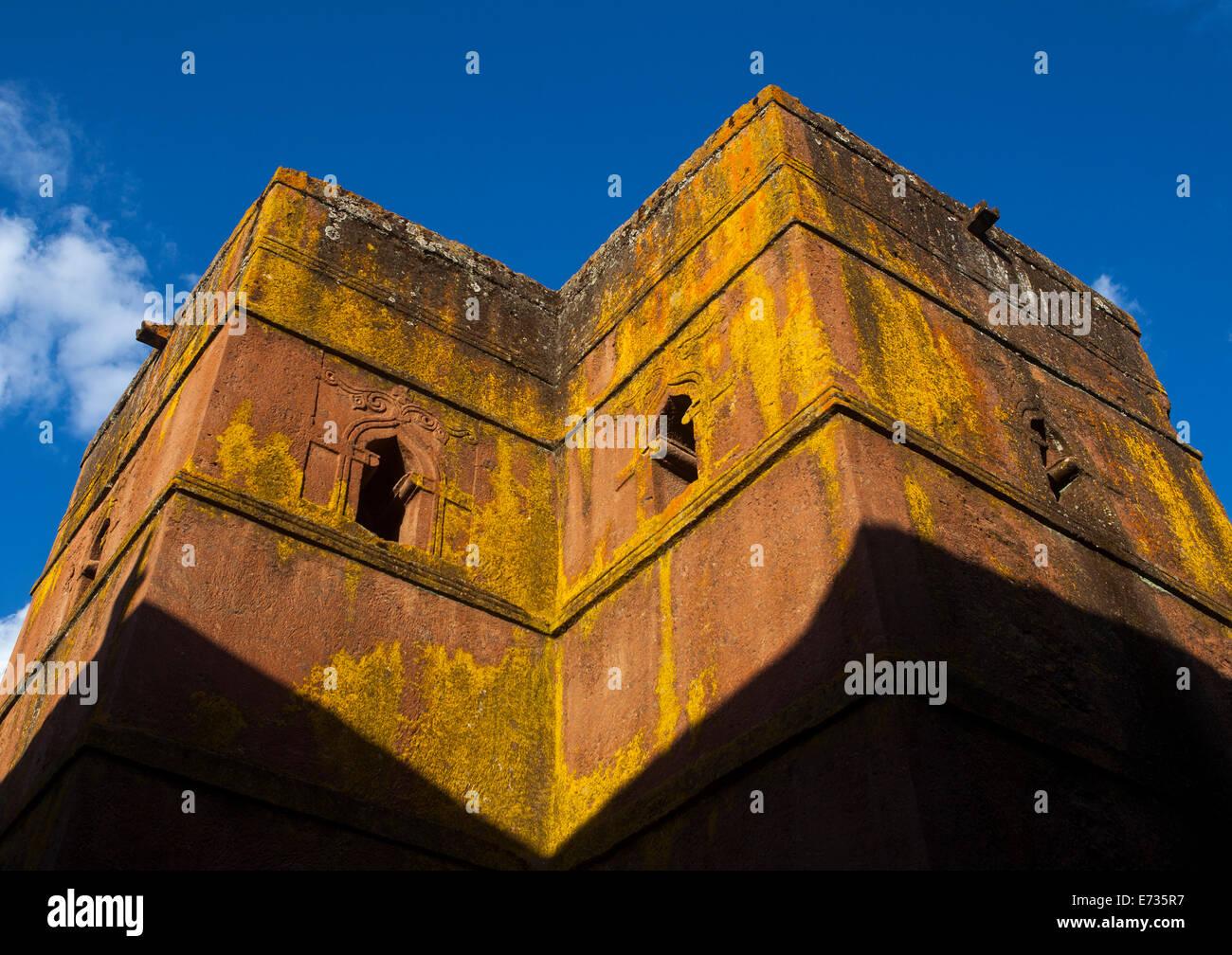 Corte de roca monolítica Iglesia de Bete Giyorgis, Lalibela, Etiopía Imagen De Stock