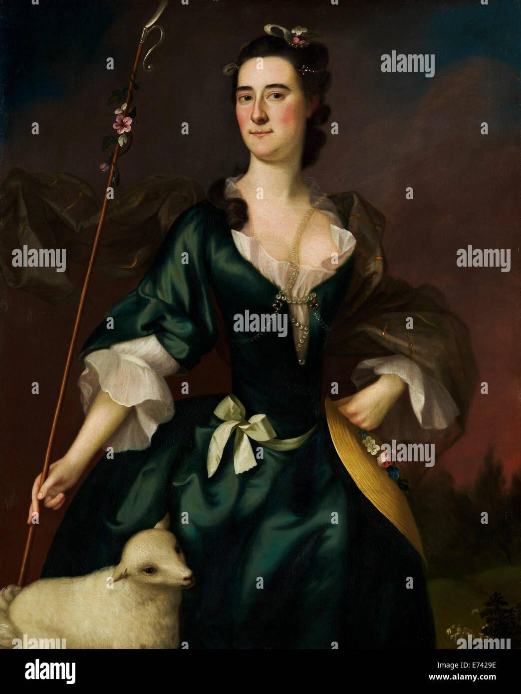 María Sylvester - por Joseph Blackburn, 1754 Imagen De Stock