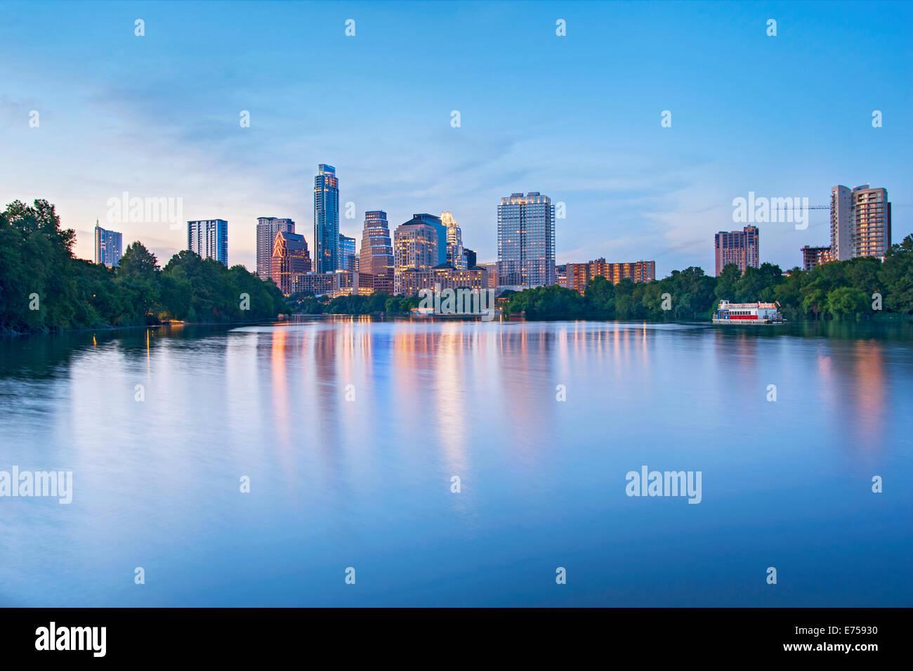 Horizonte de Austin, Texas Imagen De Stock