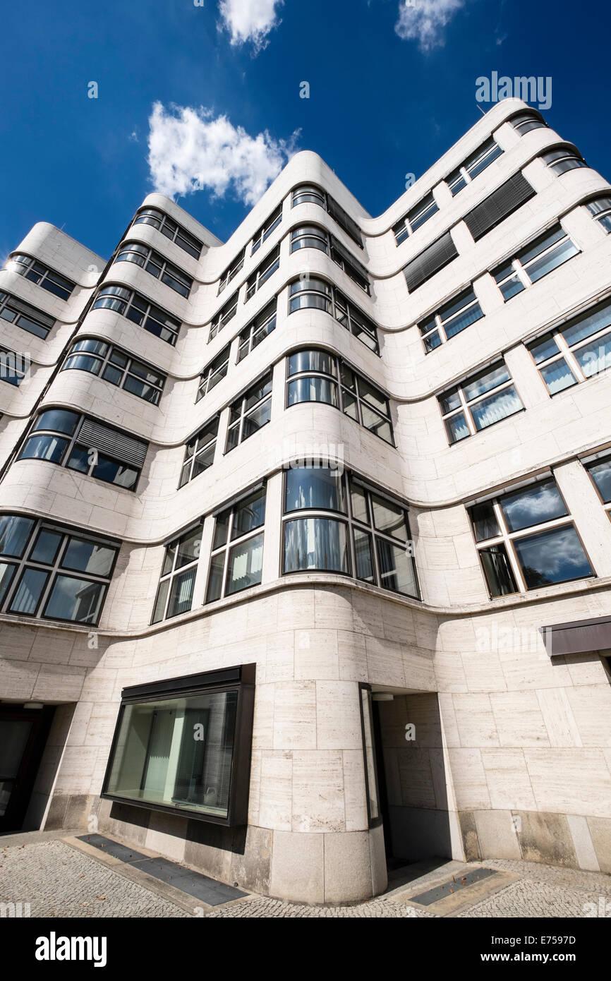 Detalle de Shell Haus arquitectura modernista en Berlín, Alemania Imagen De Stock