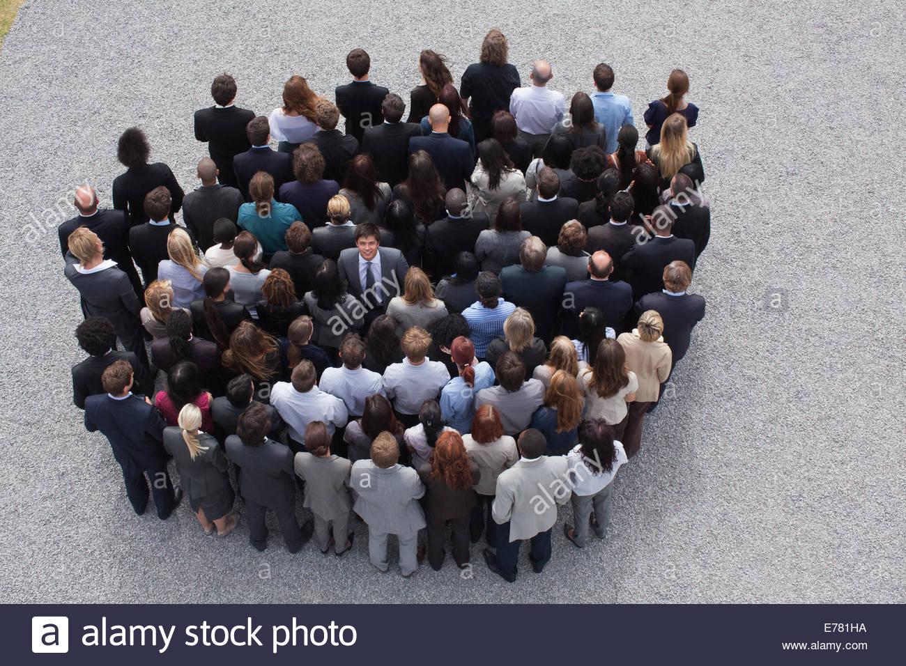 Gran grupo de gente de negocios Imagen De Stock