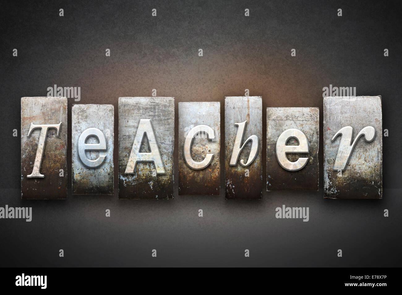 La palabra Maestro escritos en tipografía vintage Imagen De Stock