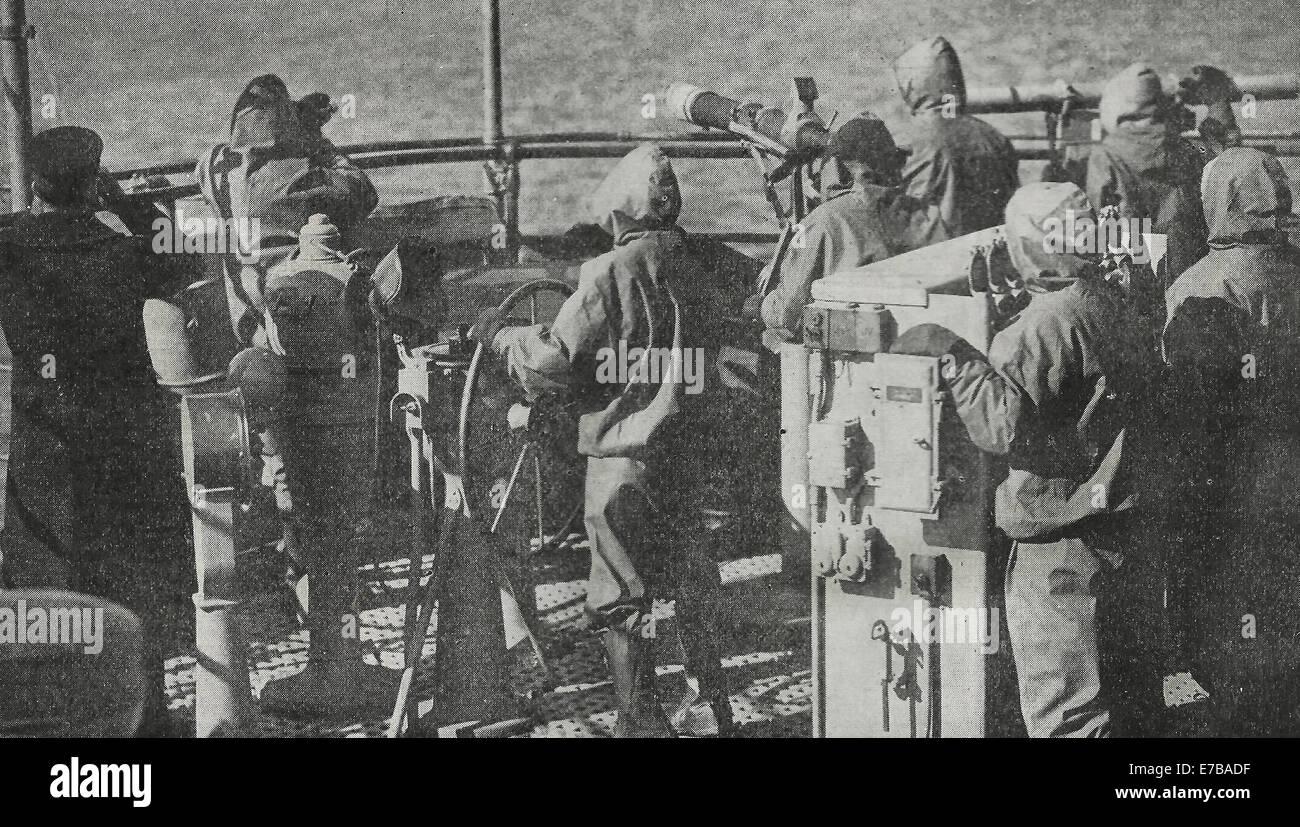 Los combates a dos enemigos a la vez - Esta pistola tripulación está equipado para librar una guerra exitosa Imagen De Stock