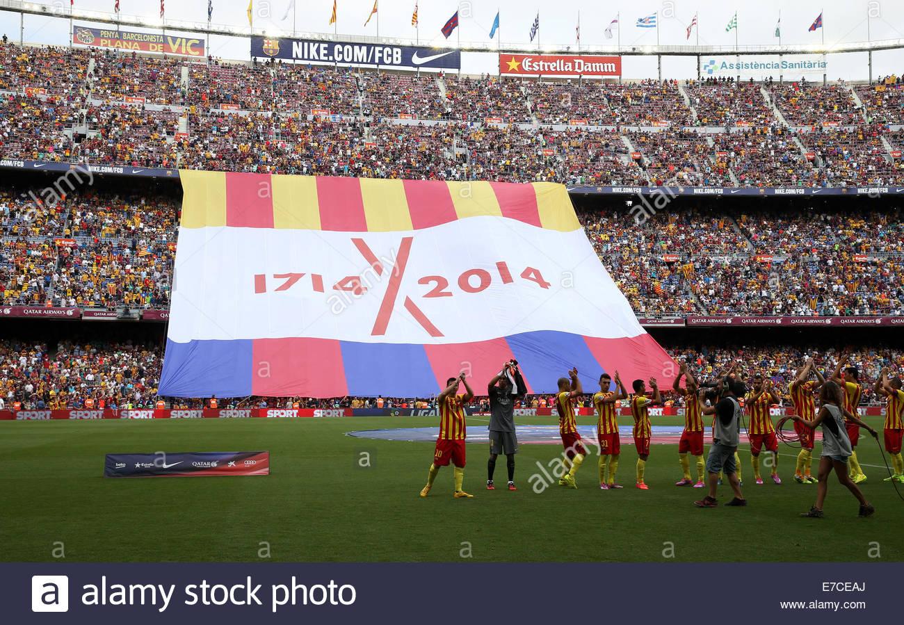 Futbol Club Barcelona Catalonia Imágenes De Stock   Futbol Club ... 2d01fb8b2da