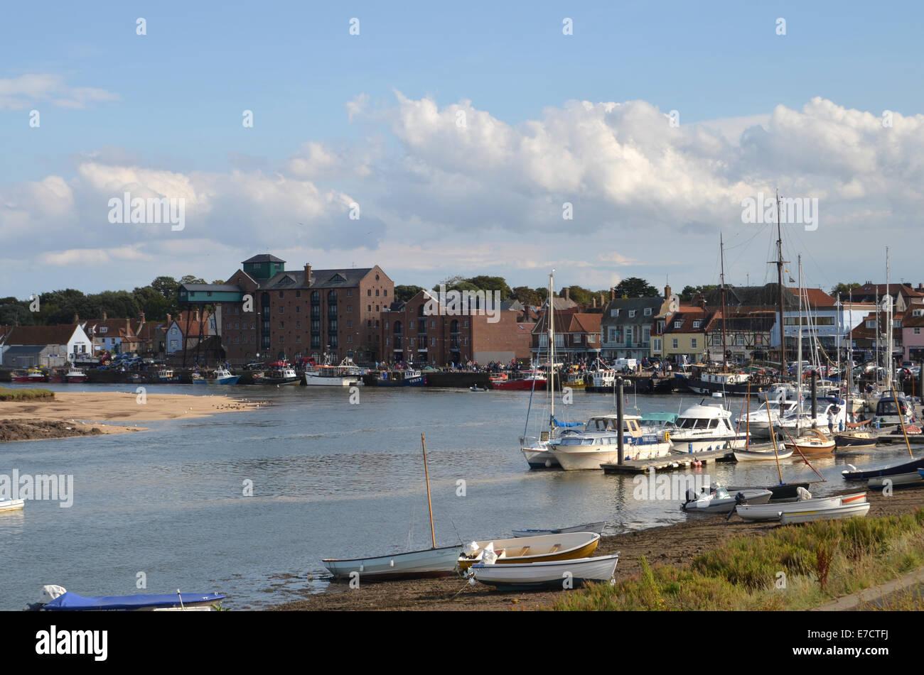 Wells junto al mar, Norfolk, UK Aug 2014 Foto de stock