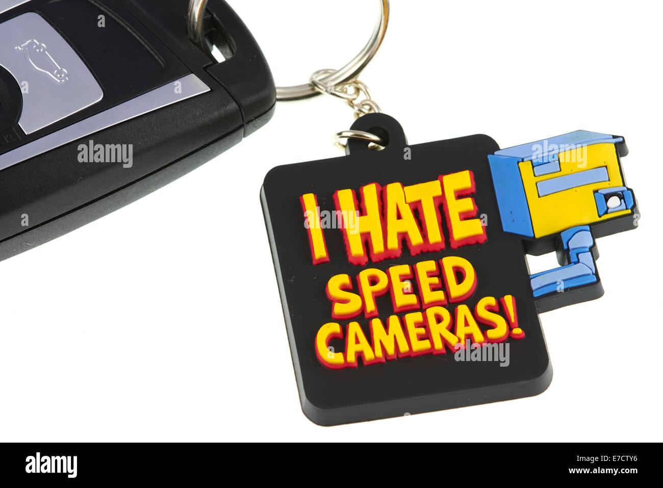 Odio las cámaras de velocidad Llavero Imagen De Stock
