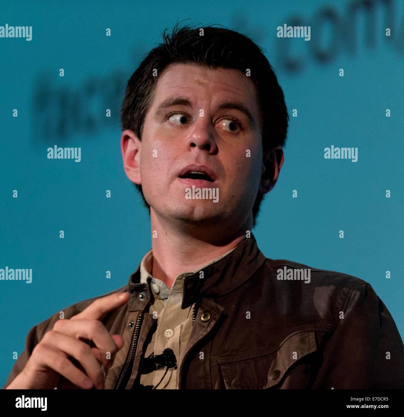 Santa Monica, California, USA. 14 Sep, 2014. RANDALL MUNROE, autor de la web comic xkcd y el New York Times best Foto de stock
