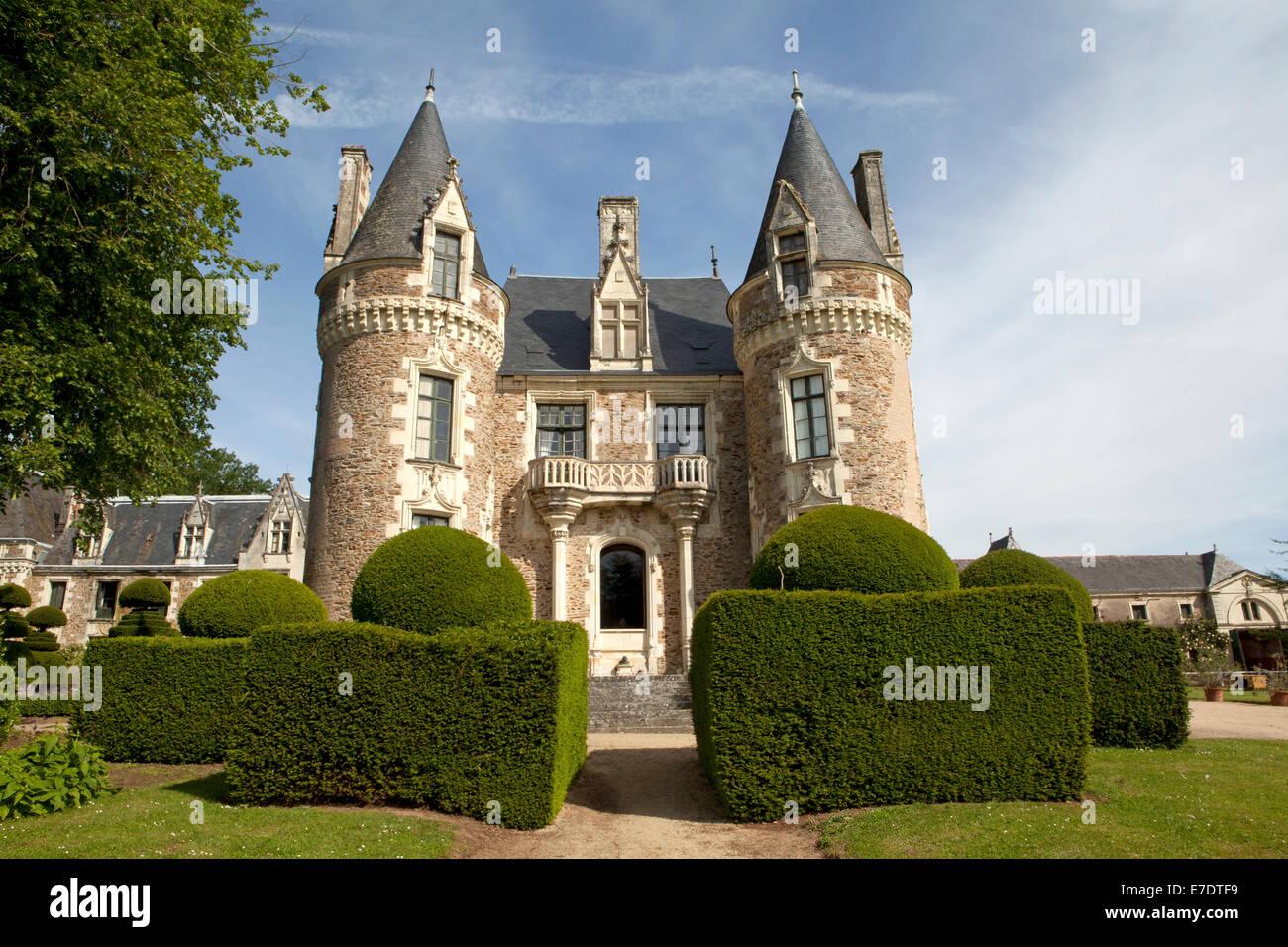 Chateau le Pin, Anjou, Valle del Loira, Francia Foto de stock