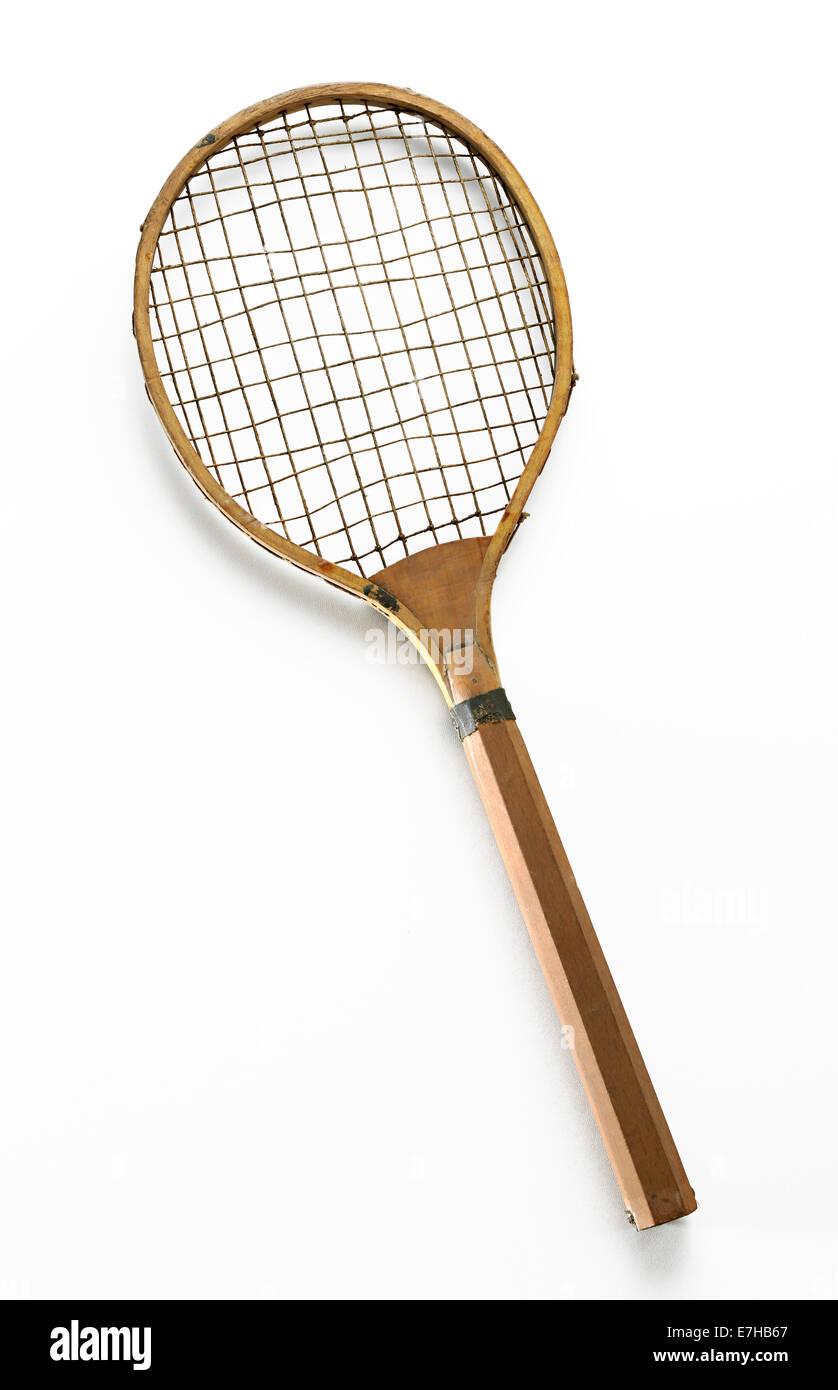 Raqueta de tenis retro Foto de stock