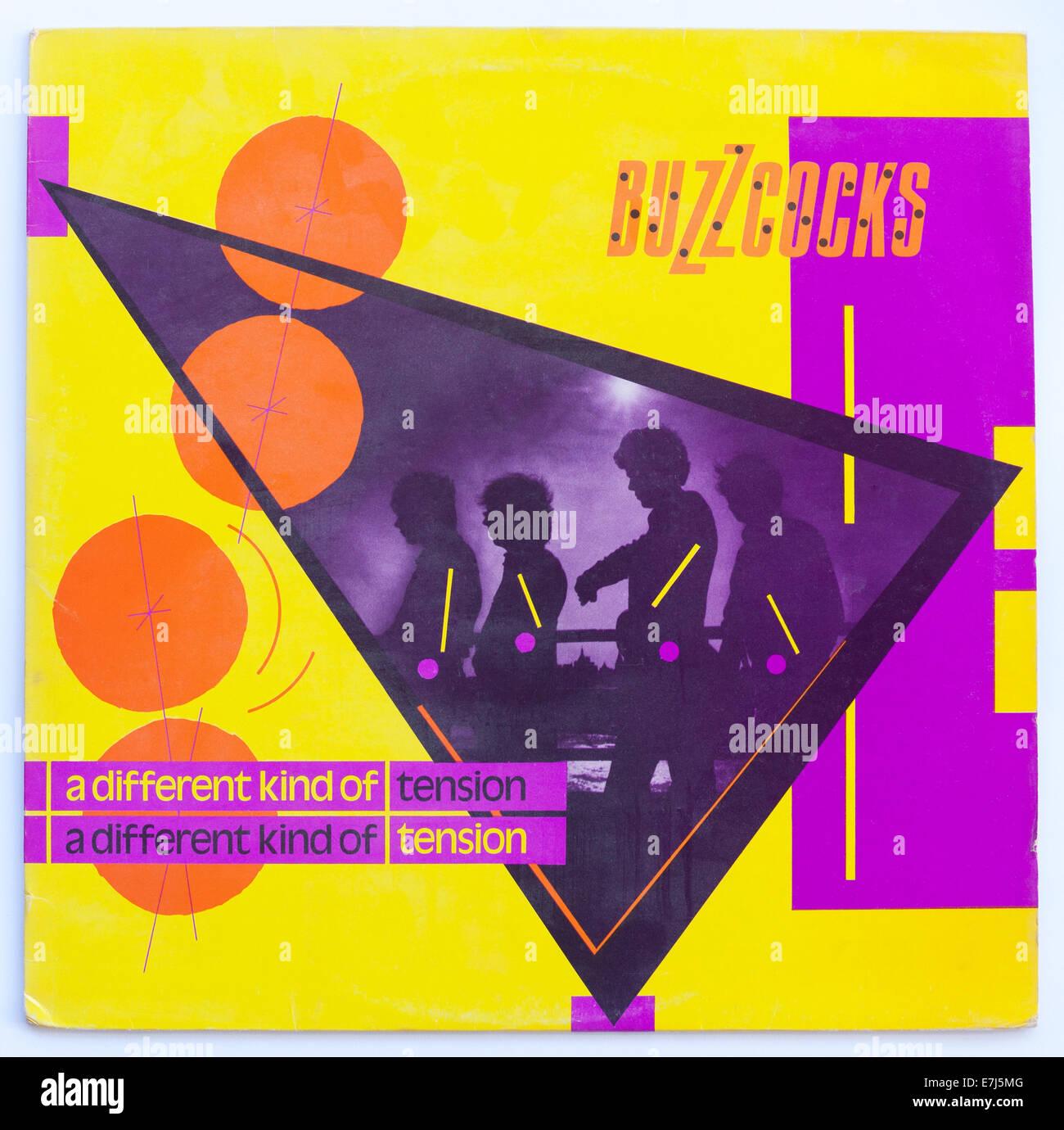 Portada de los Buzzcocks - un tipo diferente de tensión, 1979 album de vinilo en United Artists Imagen De Stock