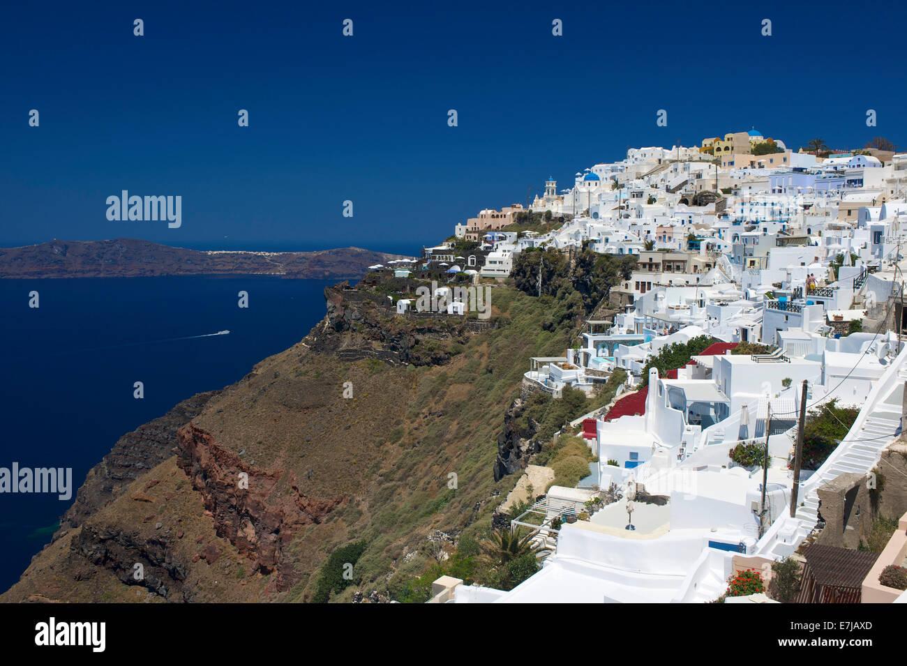 Vista de Imerovigli, Santorini, Cícladas, Grecia Imagen De Stock