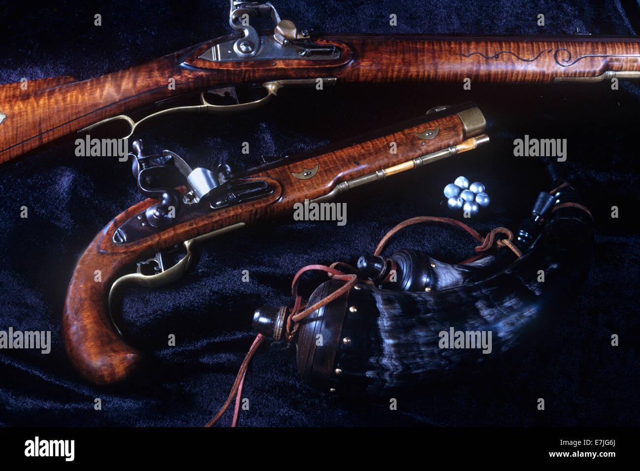 Colección privada, armas coloniales, Valley Forge, Pennsylvania Foto de stock