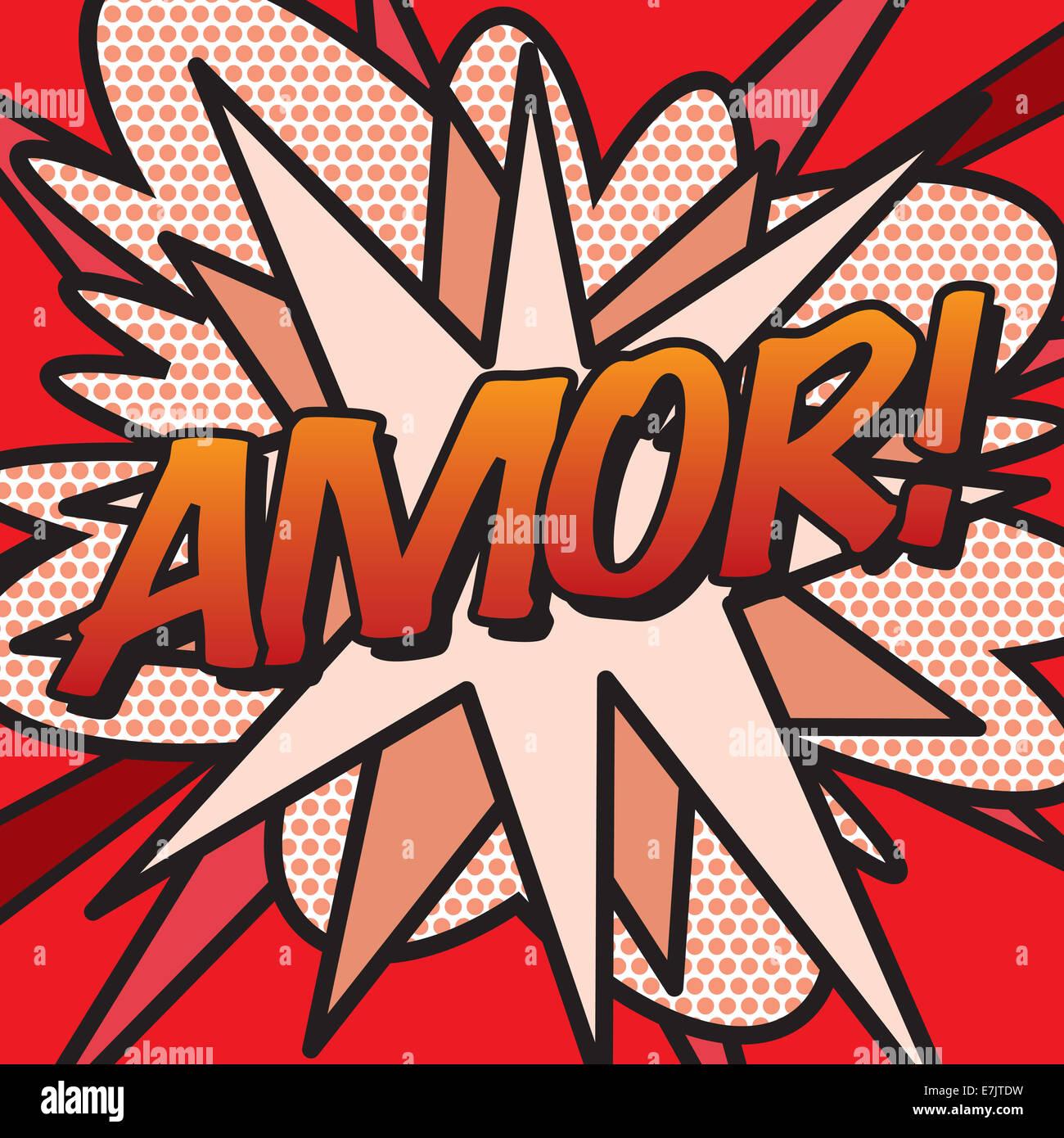 Cómic AMOR! Imagen De Stock