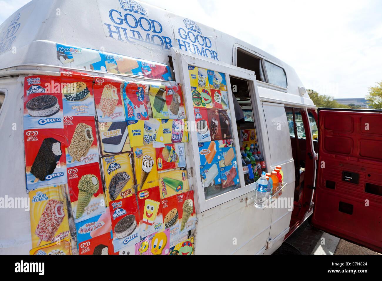 Buen humor camión de helados - EE.UU. Imagen De Stock