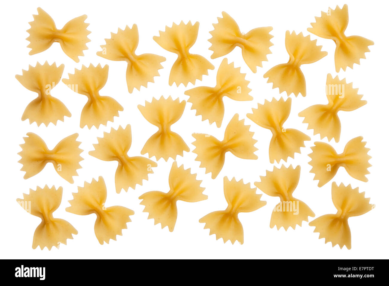 Raw italiano Pasta Farfalle, pajarita, mariposa Imagen De Stock