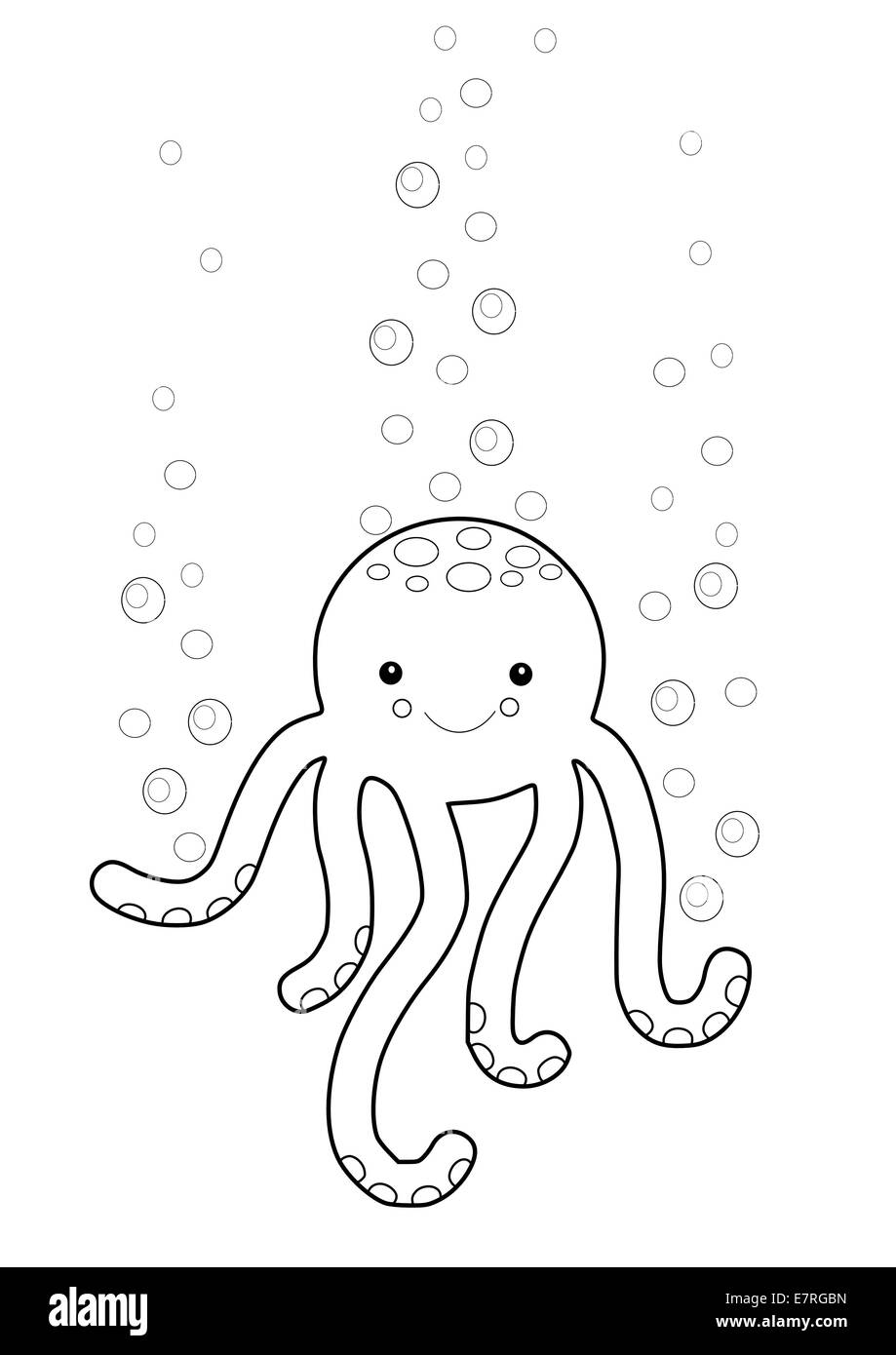 Cute Octopus Vector Imágenes De Stock & Cute Octopus Vector Fotos De ...