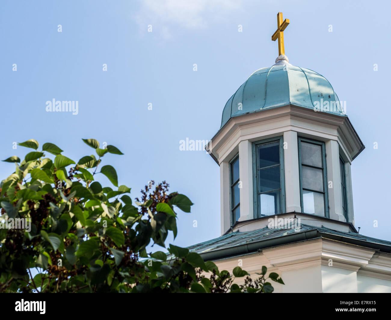 La Virgen de las Angustias iglesia en la Ciudad Vieja de Riga, Letonia. Imagen De Stock