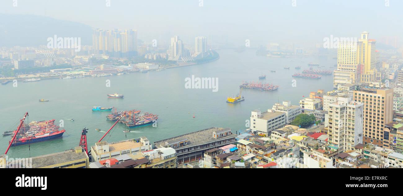 A vista de pájaro de Macao en la mañana Imagen De Stock