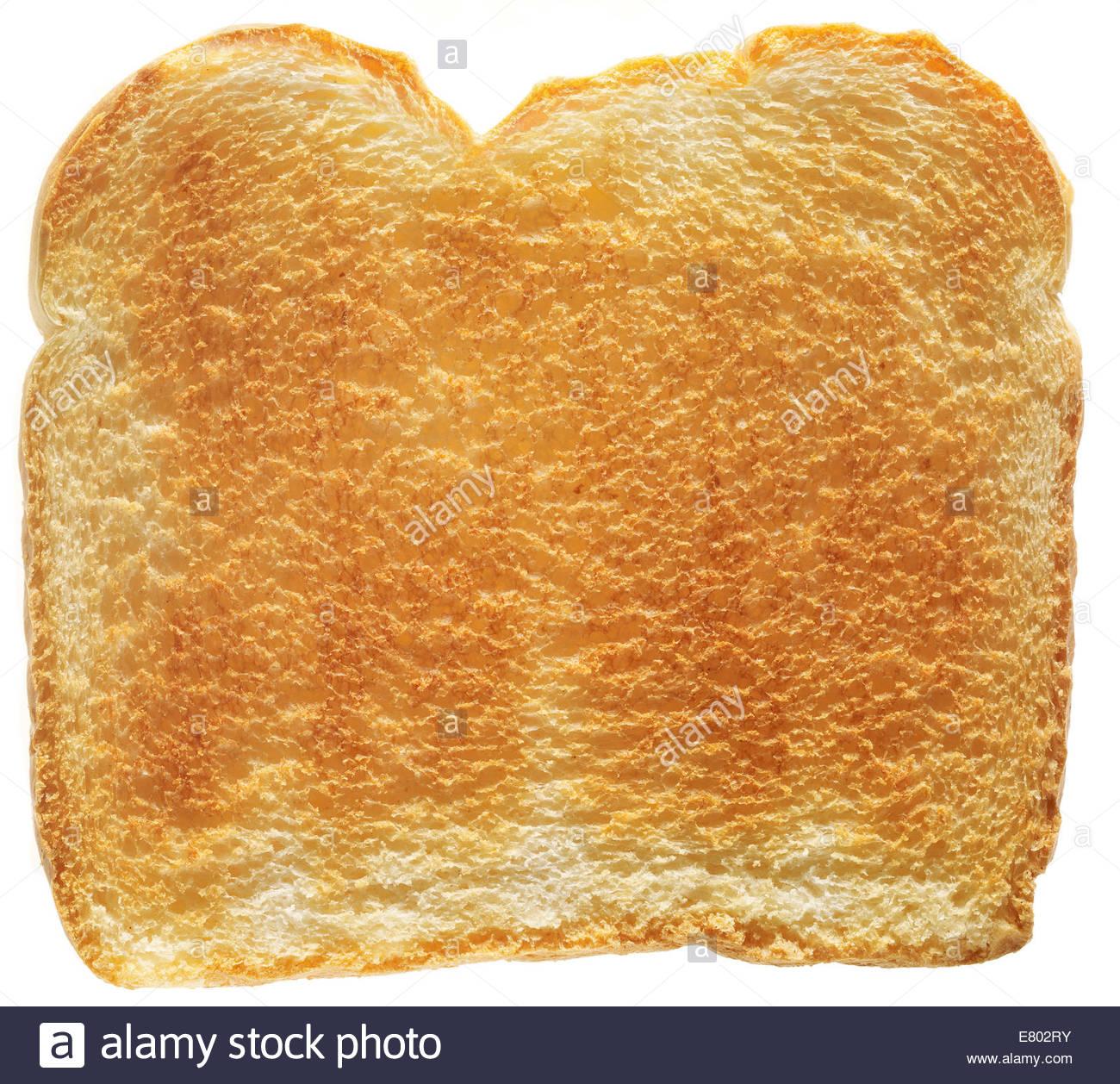 Blanco tradicional rebanada de pan tostado sobre fondo blanco. Imagen De Stock