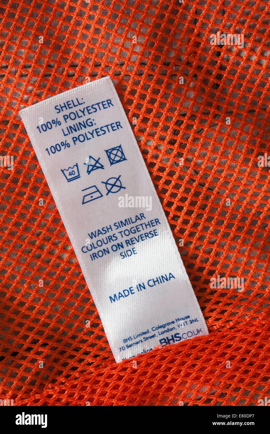 Shell 100% poliéster Forro 100% poliéster fabricados en China - etiqueta en  pato y 769b66501fb