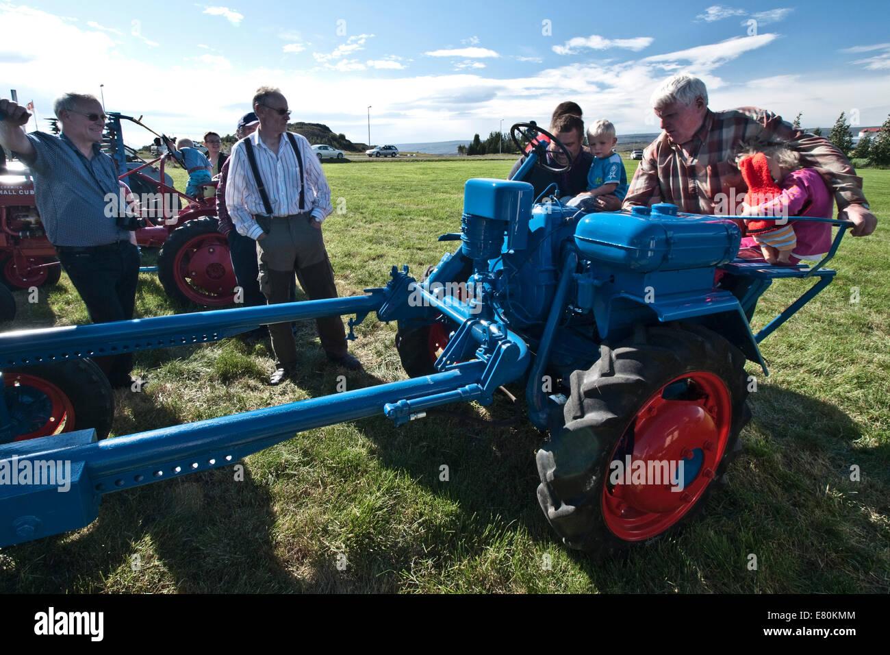 Feria agropecuaria en Egilsstadir Islandia Foto de stock