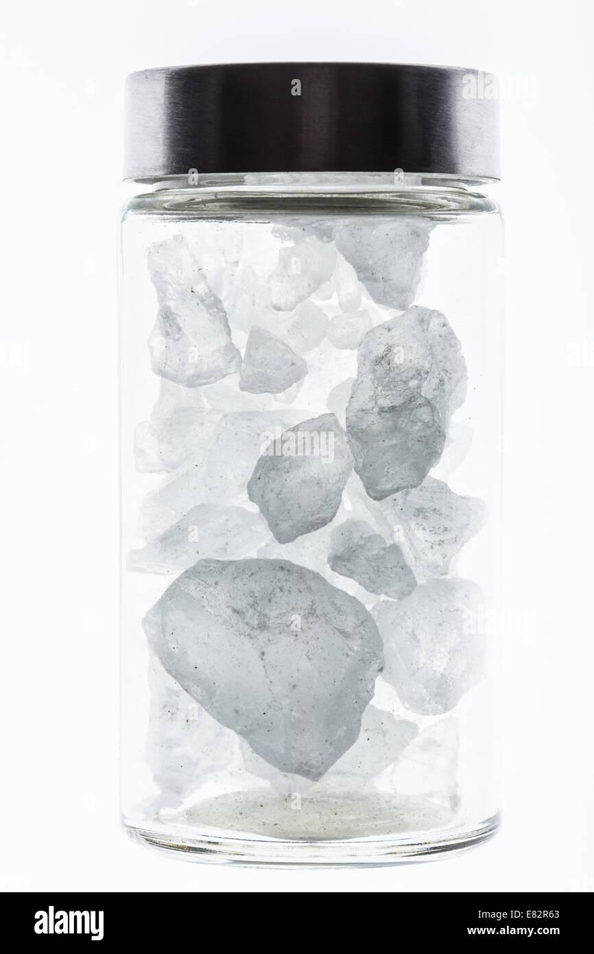 Cristales de piedra de alumbre. Foto de stock