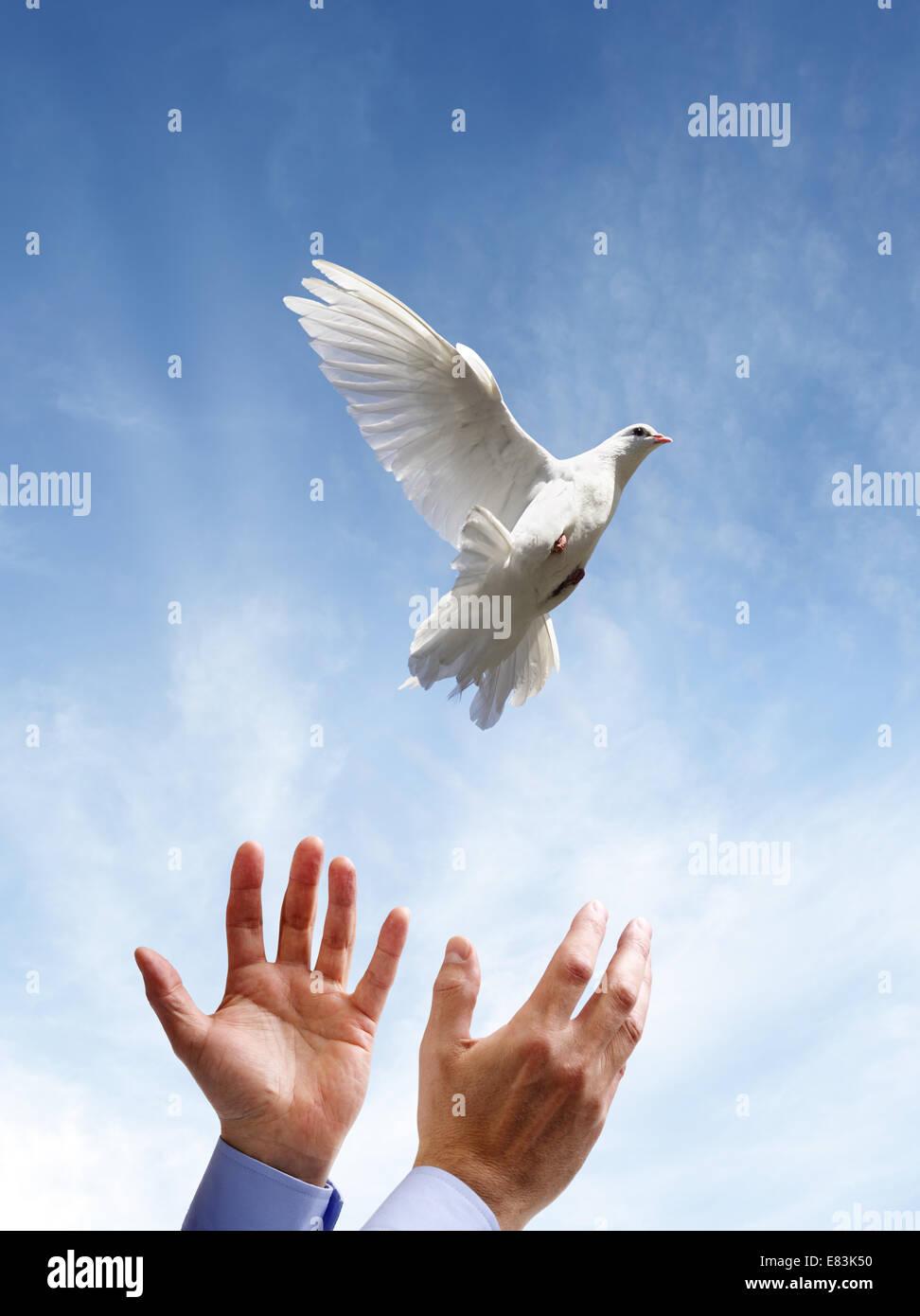 La libertad, la paz y espiritualidad Imagen De Stock