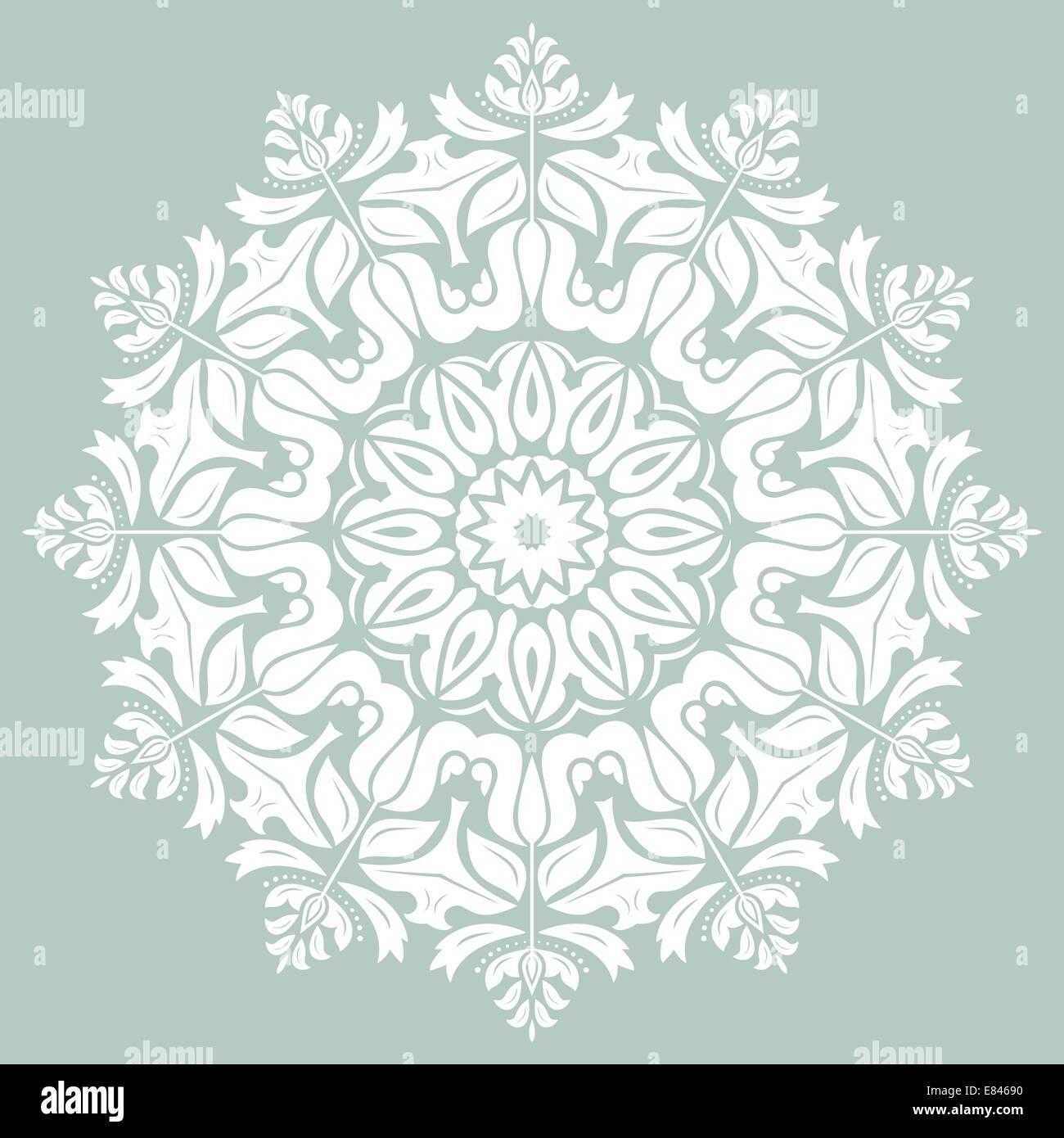 Patrón de vectores orientales con Damasco, arabesco y elementos florales. Resumen Antecedentes Imagen De Stock