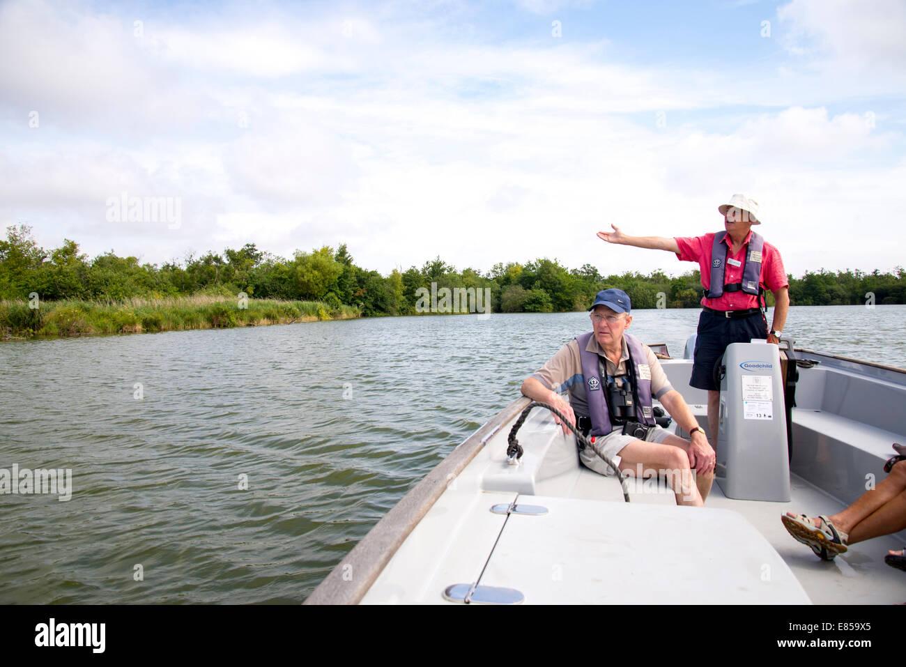 Excursión en barco guiada Ranworth amplia Imagen De Stock