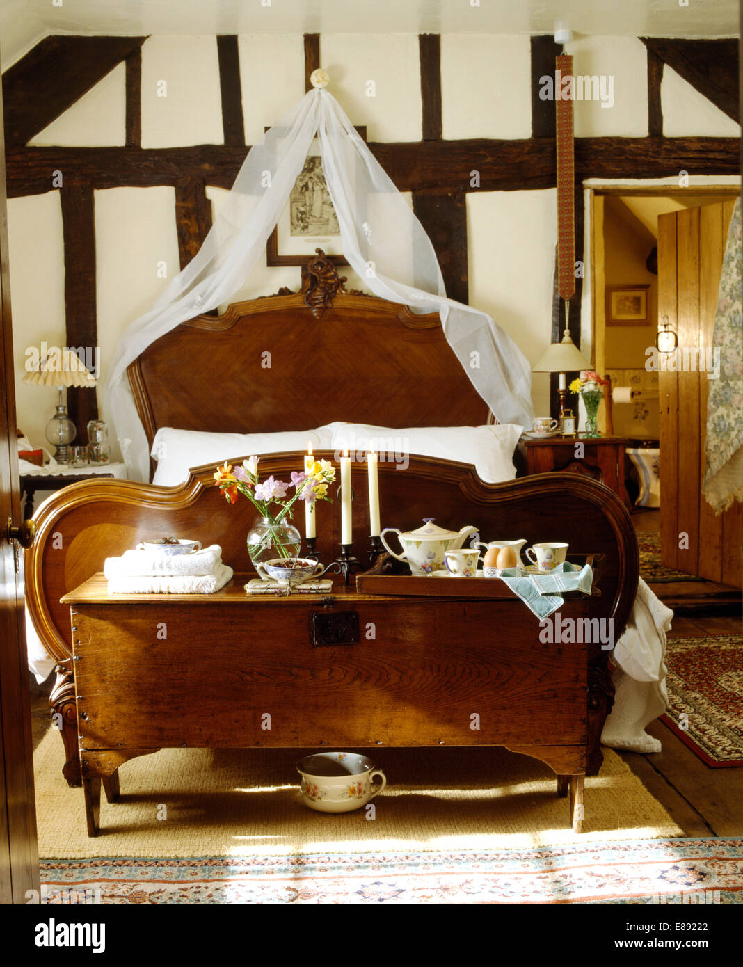 Antique Chest Foot Bed In Imágenes De Stock & Antique Chest Foot Bed ...