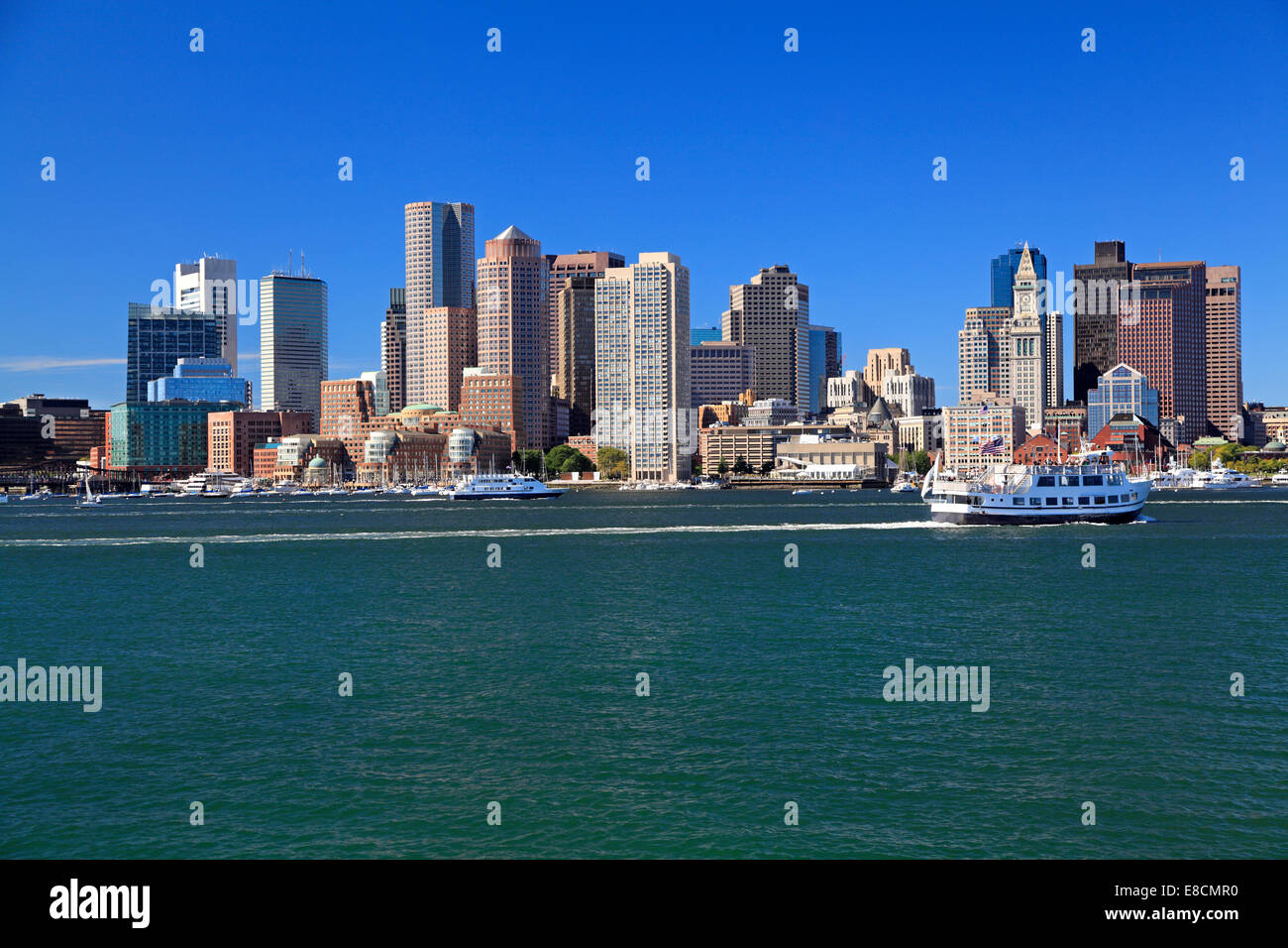 Horizonte de Boston, EE.UU. Imagen De Stock