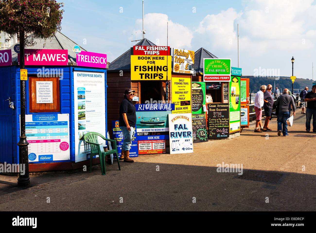 Falmouth Reserva viajes viaje de pesca Cabañas Cabañas Río fal paseos en barco cruceros viaje en Imagen De Stock