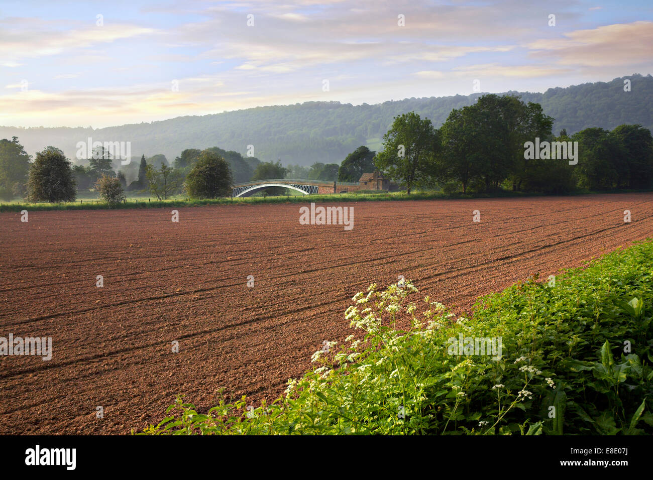 Bigswier en Gloucestershire, Monmouthshire frontera. Foto de stock