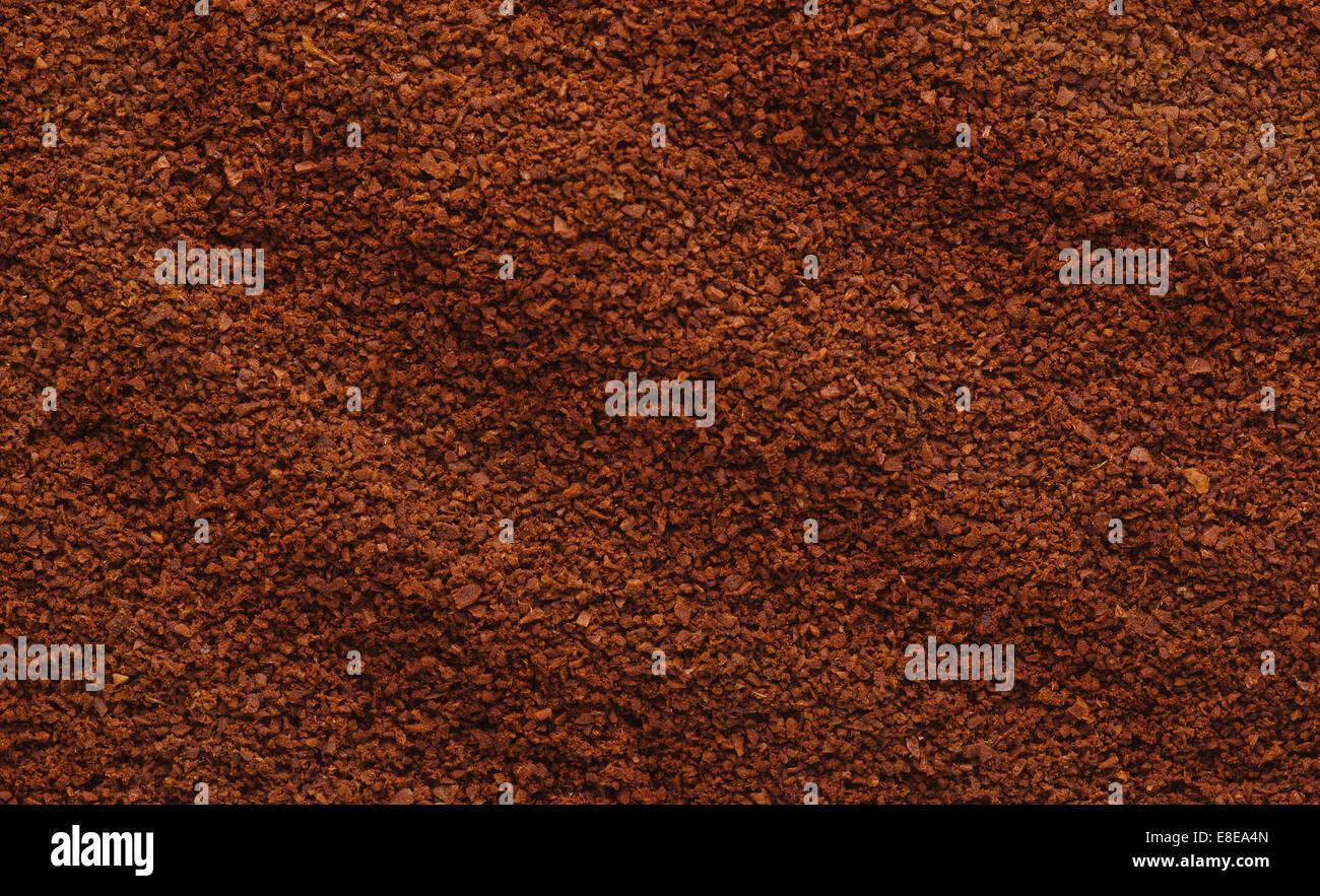 La textura natural de café molido. Imagen De Stock