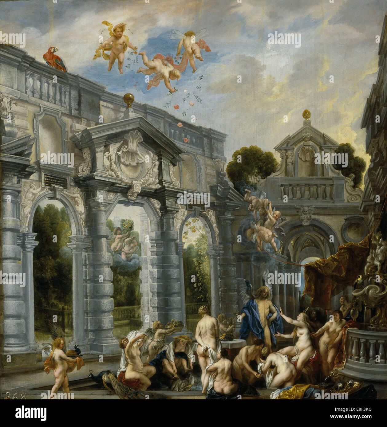 Amor y Psique. Artista: Jordaens, Jacob (1593-1678) Imagen De Stock