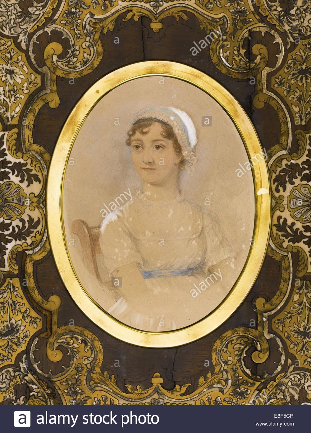 Retrato de Jane Austen (1775-1817). Artista: ANDREWS, JAMES (activo 19 cen). Imagen De Stock